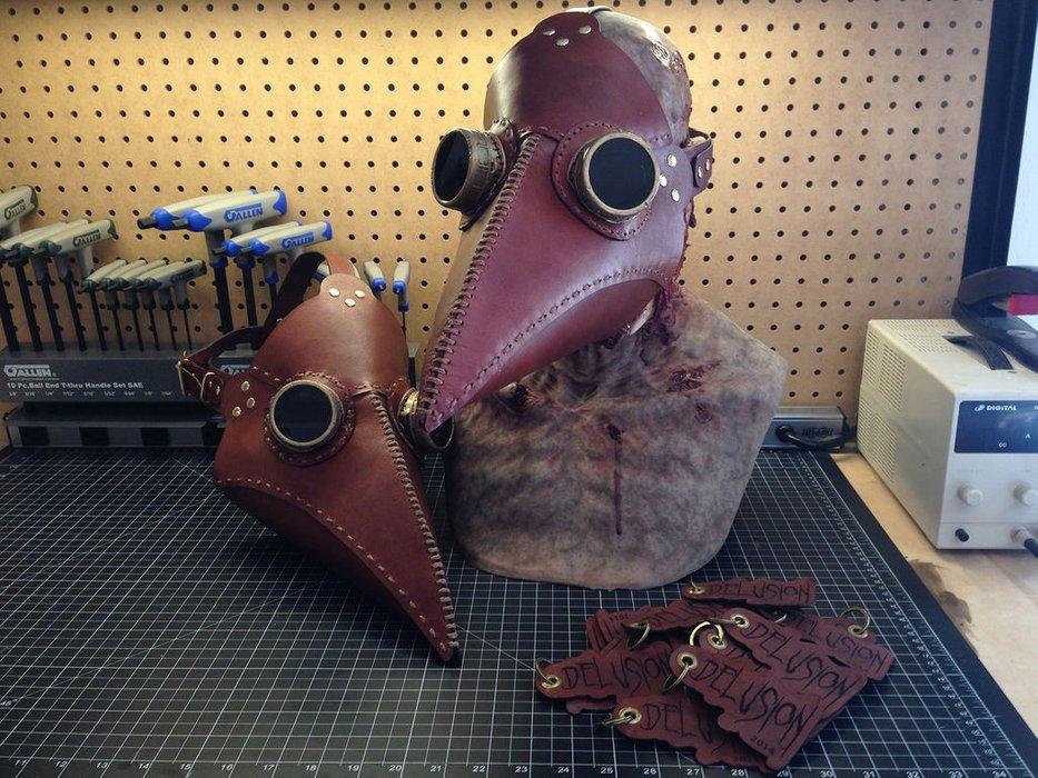 皮革瘟疫医生面具的图片