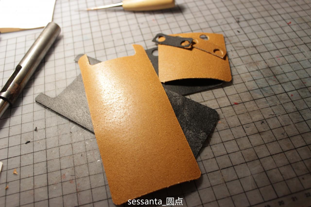 手工皮具烟盒制作过程