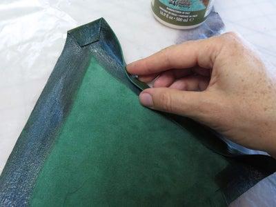 Glue and Fold the Bra Cups