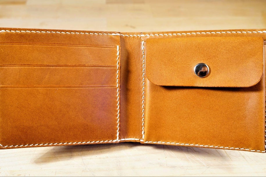 零钱短夹包(图纸)手工皮具制作教程-1