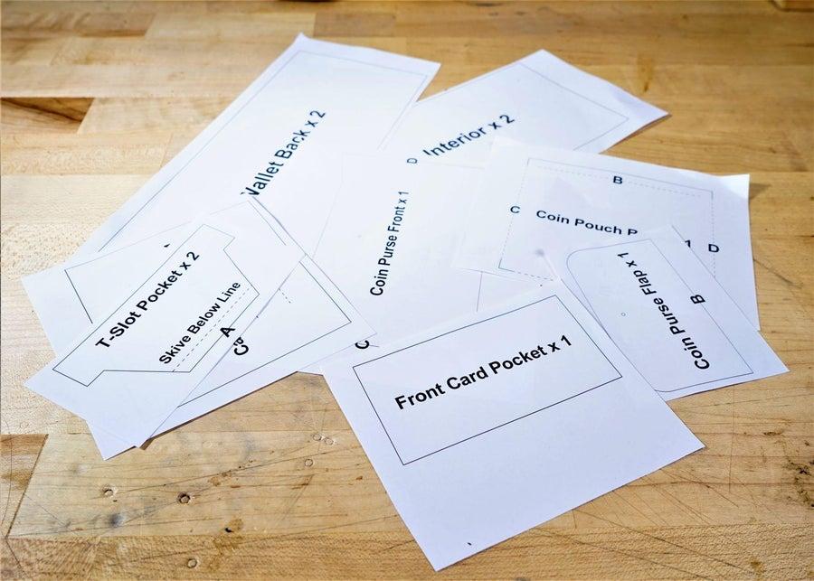 零钱短夹包(图纸)手工皮具制作教程-2