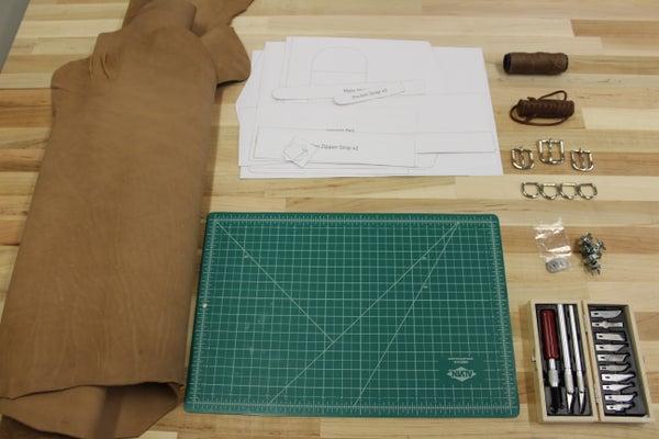 旅行背包手工皮具(图纸)-2